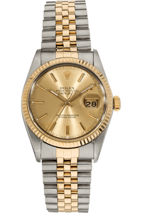 Datejust Circa 1980s Yellow Gold and Stainless Steel Automatic