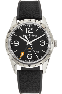 BR 123 GMT 24H  Stainless Steel Automatic