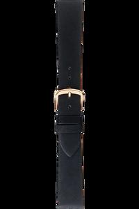 17 mm Black Calfskin Strap