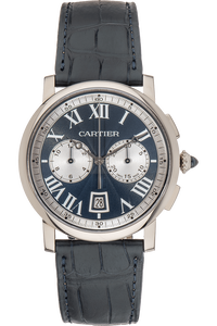 Rotonde de Cartier Chronograph White Gold Automatic