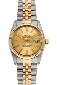 Datejust Circa 1985 Yellow Gold and Stainless Steel Automatic