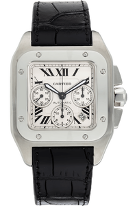 Santos 100 Chronograph Stainless Steel Automatic