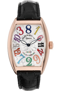 e4ec99fc7dd98 Pre-Owned Franck Muller. Cintree Curvex Crazy Hours Rose Gold Automatic