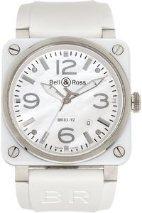 BR 03 White Ceramic and Stainless Steel Automatic