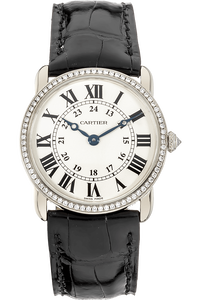 Ronde Louis Cartier White Gold Quartz
