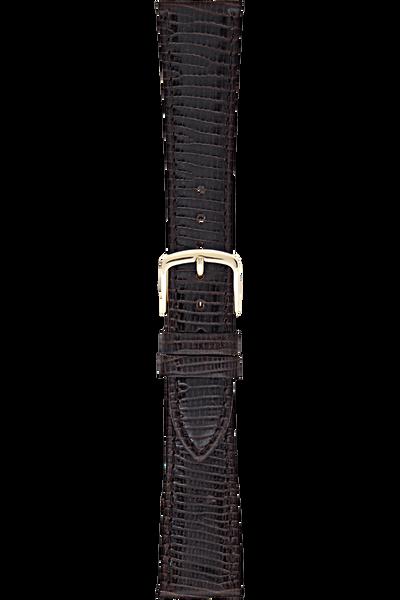 19 mm Dark Brown Leather Strap
