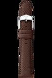 16MM Brown Saffiano Leather Strap
