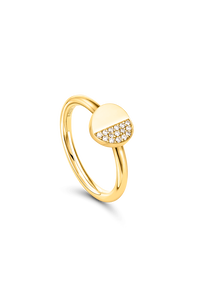 B Dimension Ring in 18K Yellow Gold