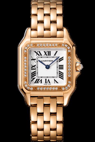 Panthère de Cartier Medium Rose Gold with Diamonds