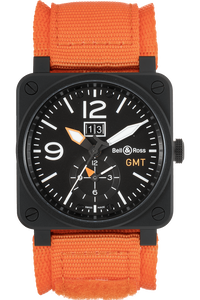 BR 03-51 GMT Carbon PVD Stainless Steel Automatic