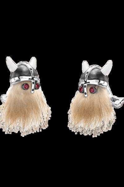 Hairy Viking Skull Cufflinks