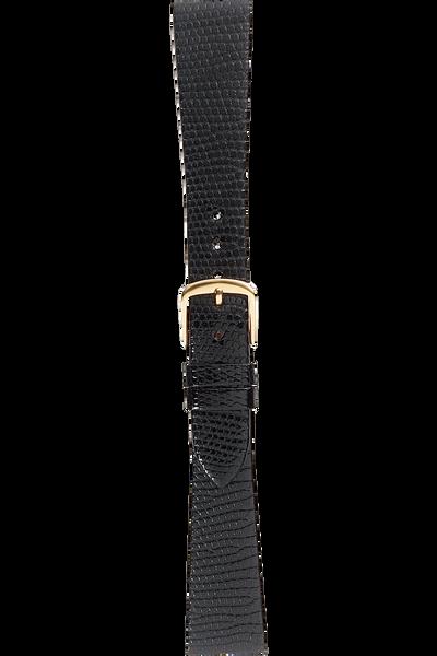 17 mm Black Lizard Strap