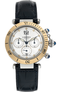 Pasha Diver Chronograph Yellow Gold and Stainless Steel Automatic