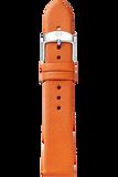 16MM Burnt Orange Thin Saffiano Strap