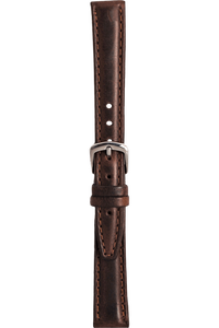 18 mm Brown Oil-Tanned Leather Strap