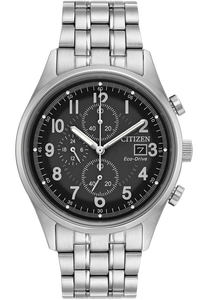 Eco-Drive  Stainless Steel Chandler Chronograph
