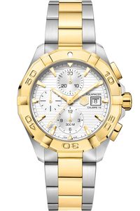 Aquaracer 300M Steel & Gold Calibre 16 Automatic Chronograph