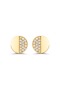 B Dimension Ear Pins in 18K Yellow Gold