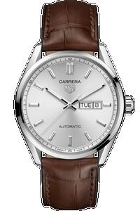 Carrera Calibre 5 Automatic Silver Leather Watch