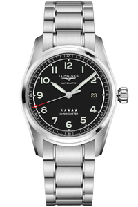 Longines Spirit 40mm Black Dial Stainless Steel