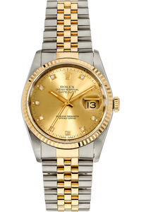 d2b1e3da963 Pre-Owned Rolex. Datejust Yellow Gold and Stainless Steel Automatic