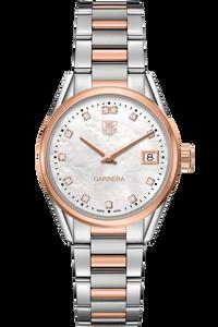 Carrera Quartz Rose Gold Watch Diamond Dial