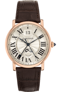 Rotonde Large Date Second Time Zone Rose Gold Automatic