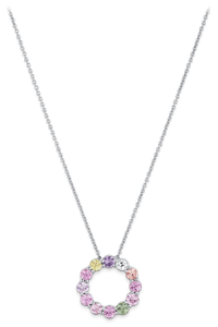 Pastello Pendant With Chain in 18K White Gold