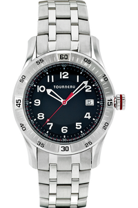 Men's Steel Arabic Black Dial Bracelet