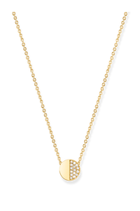 B Dimension Necklace in 18K Yellow Gold