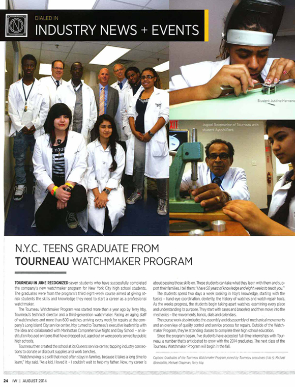 NYC Teens Graduate from Tourneau Watchmaker Program