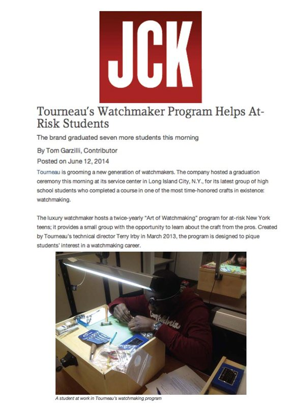 Tourneau's Watchmaker Program Helps At-Risk Students