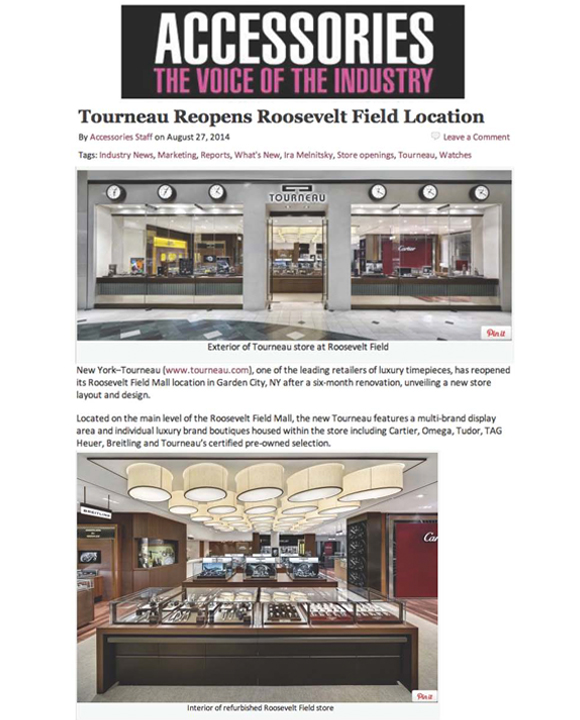 Tourneau Roosevelt Field Location Reopens