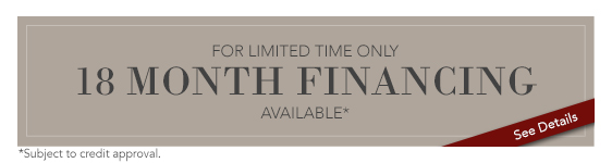 Limited Time, 18 Month Financing Available - apply now
