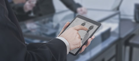 tablet showing tourneau website