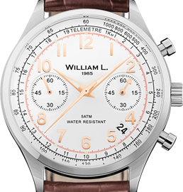 William L. 1985 Vintage Style Chronograph Watch