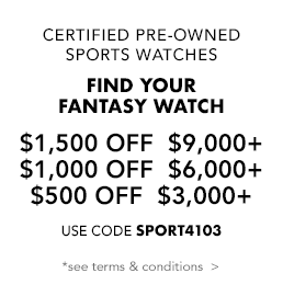 Up to $1,500 off pre-owned sports watches