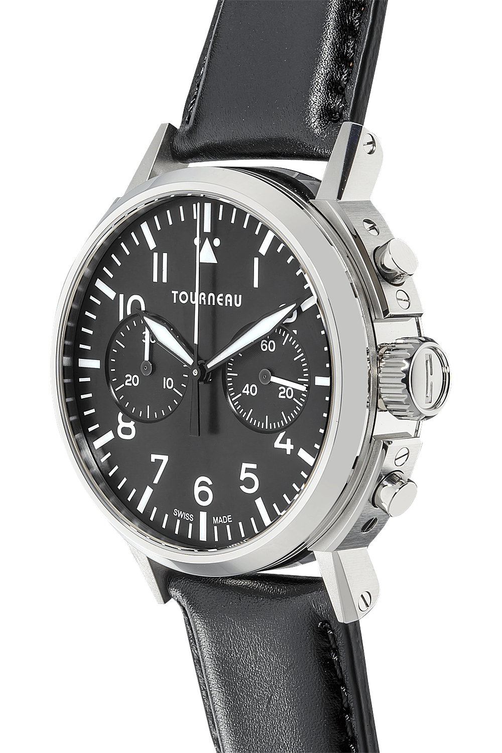 Tourneau tny 40mm chronograph aviator in stainless steel tny0100023 for Watches 40mm