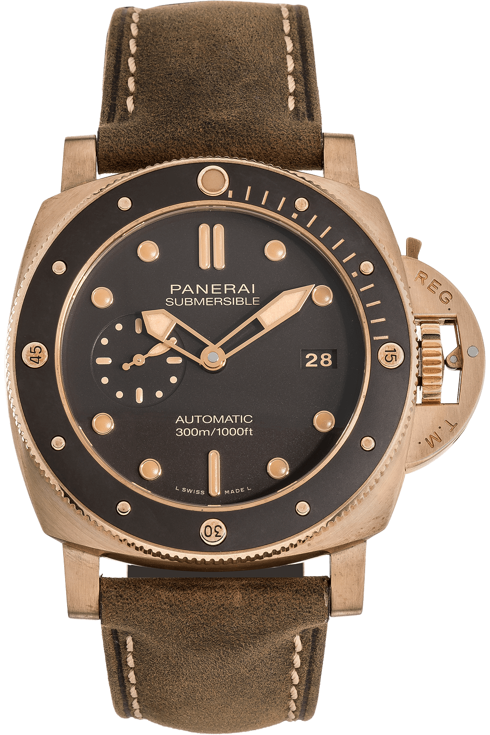 Pre-Owned Panerai Submersible Bronzo (PAM00968)