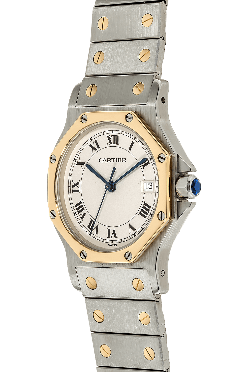 558d5d432b1 ... Santos Ronde Yellow Gold and Stainless Steel Quartz ...