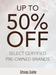 Up to 50% off select certified pre-owned watch brands