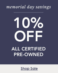 10% off certified pre-owned watches