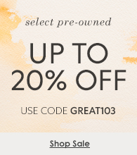 Up to 20% off select Pre-Owned Watches