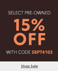 15% off select pre-owned watches with code SEPT4103