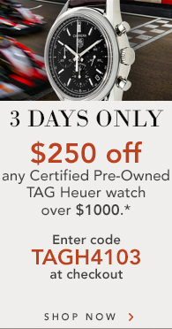 Certified Pre-Owned TAG Heuer - $250 off $1000