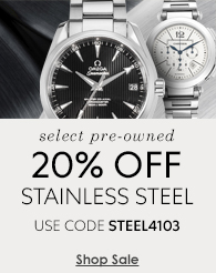 20% off select pre-owned stainless steel watches