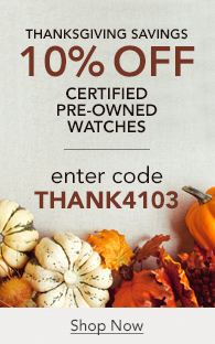 Save 10% off Certified Pre-Owned Watches