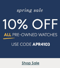 10% off All Pre-Owned Watches