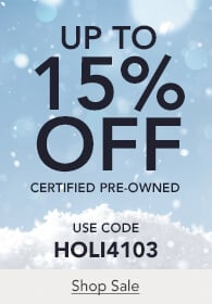 Up to 15% off certified pre-owned watches