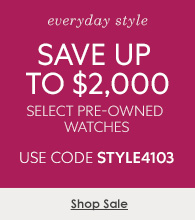 Up to $2,000 Off select Pre-Owned Watches